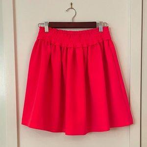 Kate Spade Neon Pink Skater Swing Skirt Size S